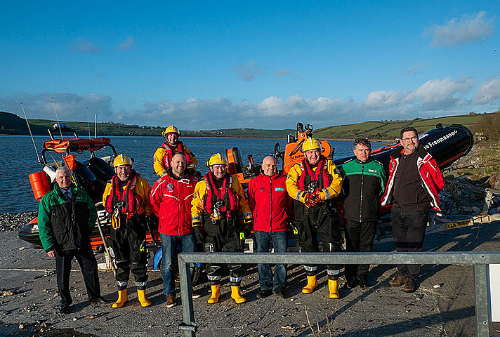 Ferryside Lifeboat with Simon Hart Secretary of State for Wales