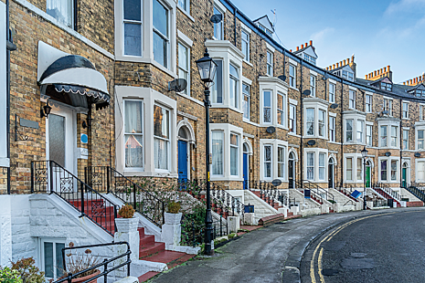 Urban housing in Scarborough, Yorkshire, England
