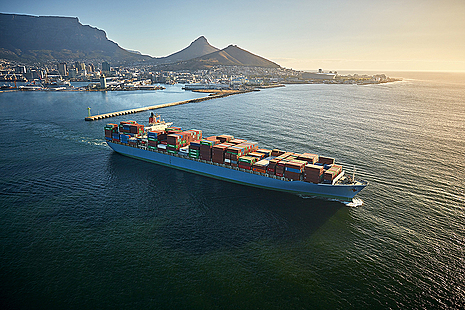 Ship in Cape Town, South Africa