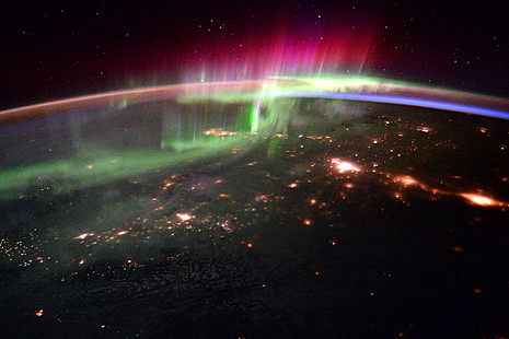Image of Canada from space at night