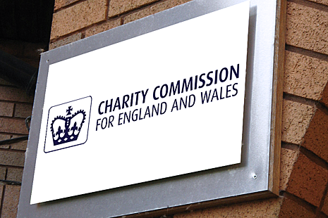 The Charity Commission for England and Wales logo.