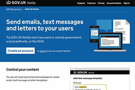 GOV.UK Notify screenshot