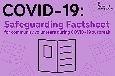 Graphic reading 'Safeguarding Factsheet' with an icon of a leaflet