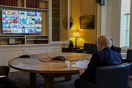 PM Boris Johnson on a video call with G20 leaders