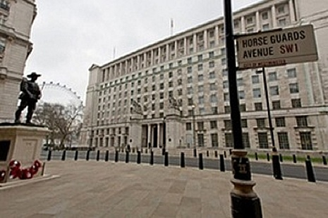 outside of MOD main building, stock news article image.