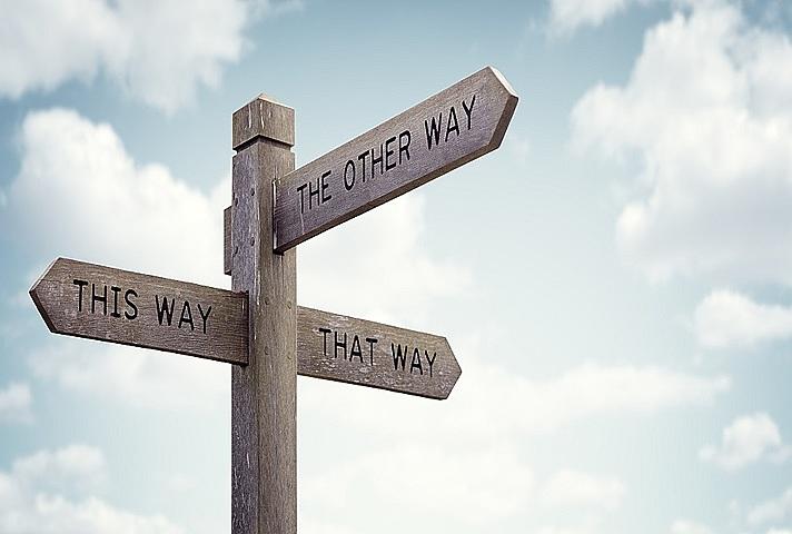 uncertain signpost