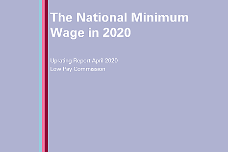 Cover of the report The National Minimum Wage in 2020