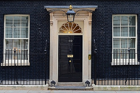 Door of No.10 Downing Street.