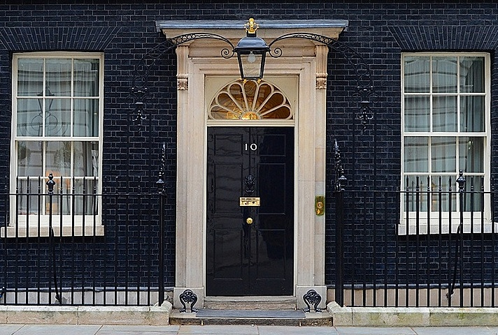 Door of No.10 Downing Street.