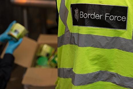 An image of Border Force checks.