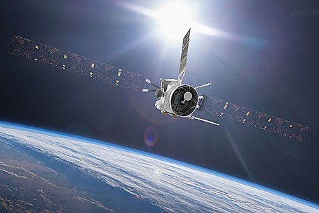 Artist impression of BepiColombo's flyby of Earth