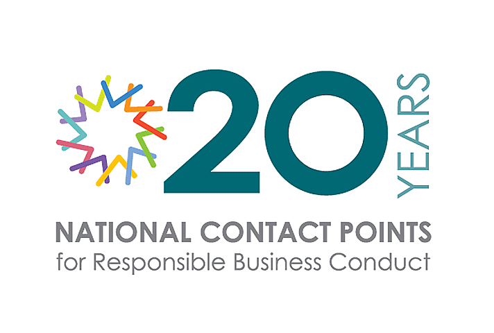 logo reads 20 years of National Contact Points for Responsible Business Conduct