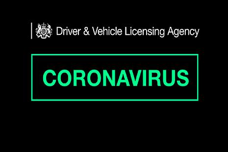Text saying DVLA coronavirus