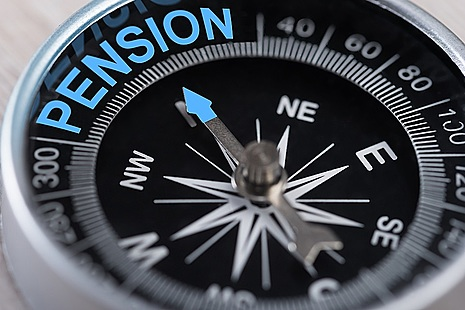 Compass pointing to Pension
