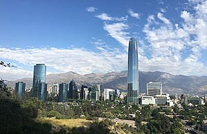 View of Santiago, Chile's capital