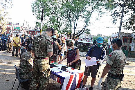 The British Gurkhas rescue Brits stranded in Nepal