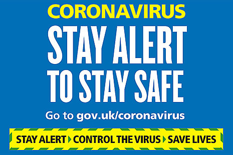 Coronaviris stay alert to stay safe.