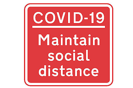 COVID-19 maintain social distance.