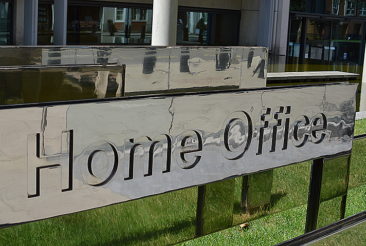 Home Office sign outside building.