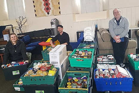 Volunteers from the North Ayrshire foodbank