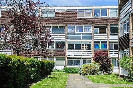 A block of flats in Woking, Surrey.