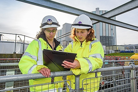 Two female apprentices at a nuclear site