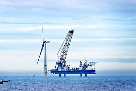 Wind farm development at sea