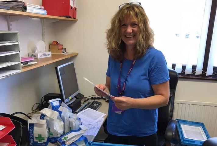 Sharon Foxon from Sizewell A Site is volunteering in her local community during the coronavirus pandemic