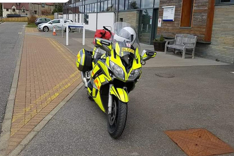 Dounreay helps motorbike charity support NHS in Caithness