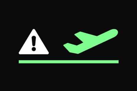 Air travel graphic.