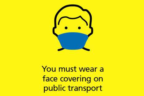 You must wear a face covering on public transport.