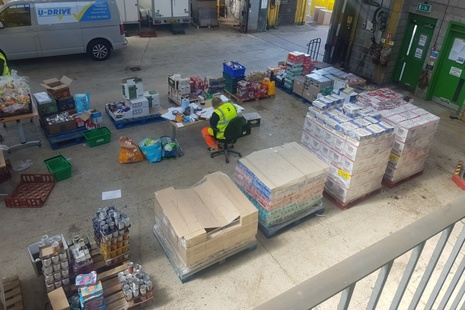 One of the foodbanks in Dorest being supported by the Magnox grant.