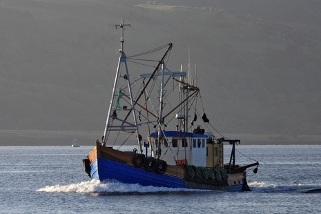 A fishing boat at the Sound of Mull