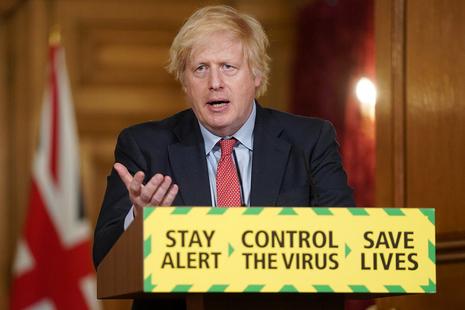 PM Boris Johnson at the coronavirus press conference
