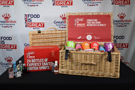 Food is GREAT hamper and spirits box