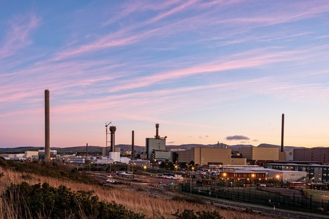 Image of the Sellafield site at sunrise
