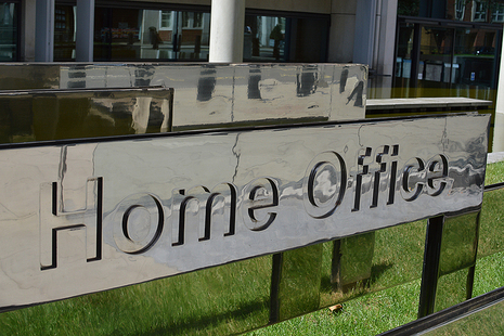 A image of the Home Office sign.