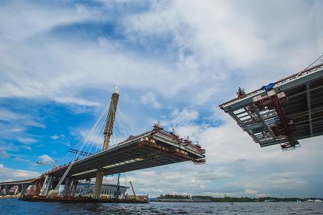 Bridge being built