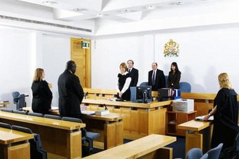 Interior shot of magistrates' court