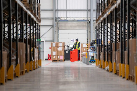 Image depicts the interior of MOD Donnington Defence Fulfilment Centre.