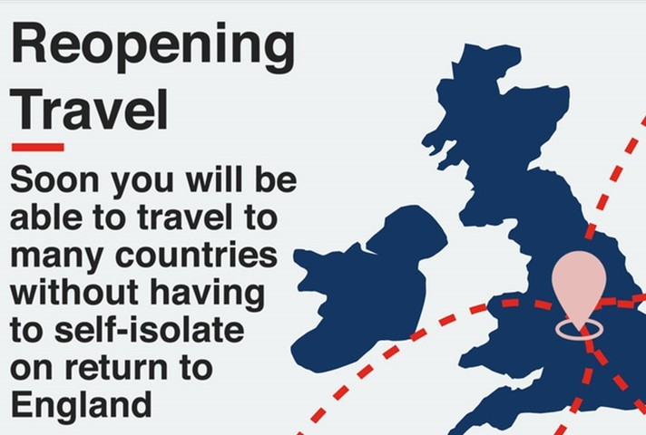 Reopening travel: soon you will be able to travel to many countries without having to self-isolate on return to England.