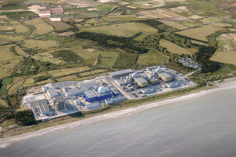 An artist's impression of the Sizewell C nuclear power station