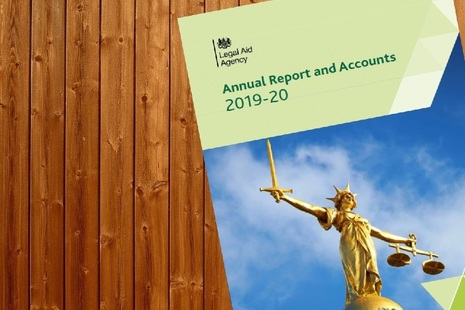 Cover image of 2019 to 2020 Legal Aid Agency annual report and accounts