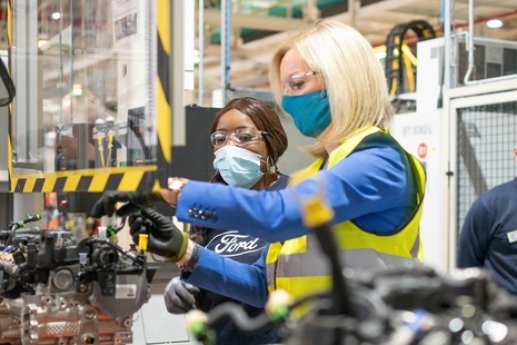 Liz Truss at Ford of Britain factory