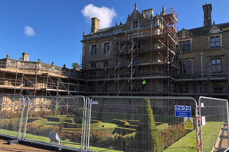 The Coal Authority carrying out repairs at Thoresby Hall.