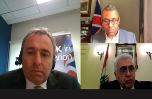 UK Minister for the Middle East James Cleverly held a virtual visit to Lebanon