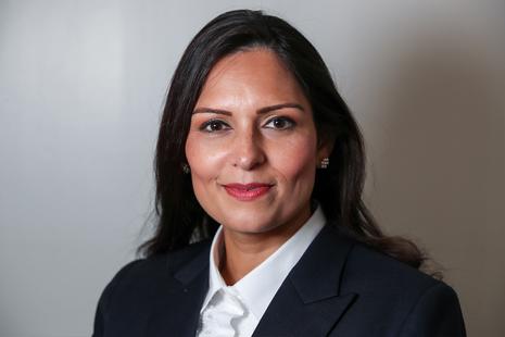 An image of Priti Patel.