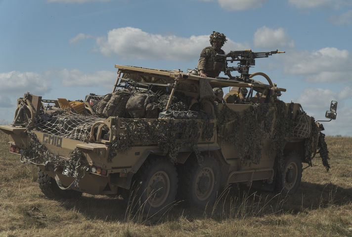 UK troops training on Salisbury Plain