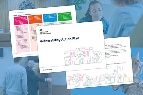 Graphic showing illustration of vulnerability action plan pages