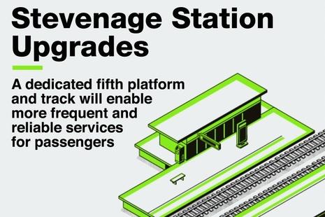 An image representing Stevenage train station.